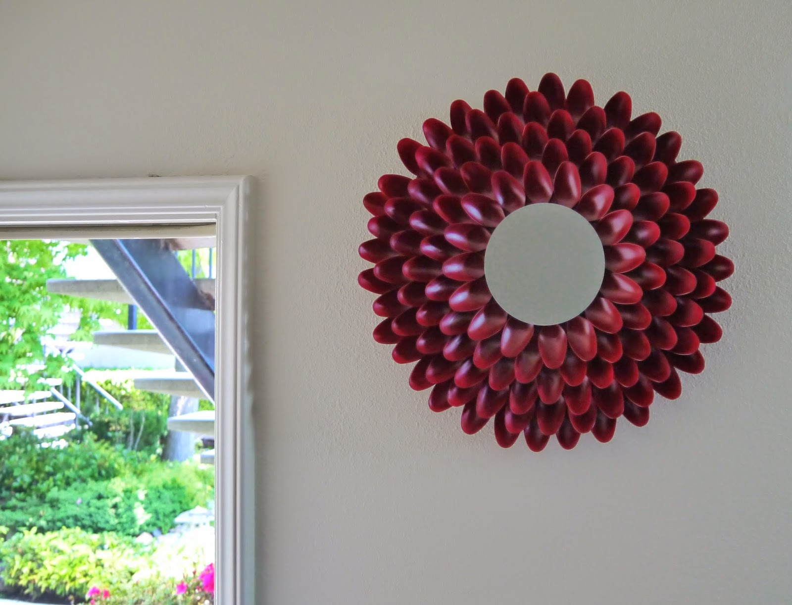 Diy addiction mirror wall art chrysanthemum flower - Images of wall decoration ...