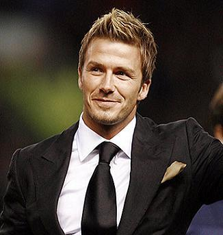 David Beckham With Faux Hawk Hairstyle