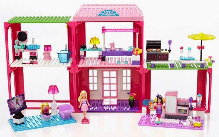 TOYS : JUGUETES - MEGABLOKS  Barbie - 80149 Nueva Mansión Fabulosa de Barbie  Producto Oficial   Edad: 4 - 10 años