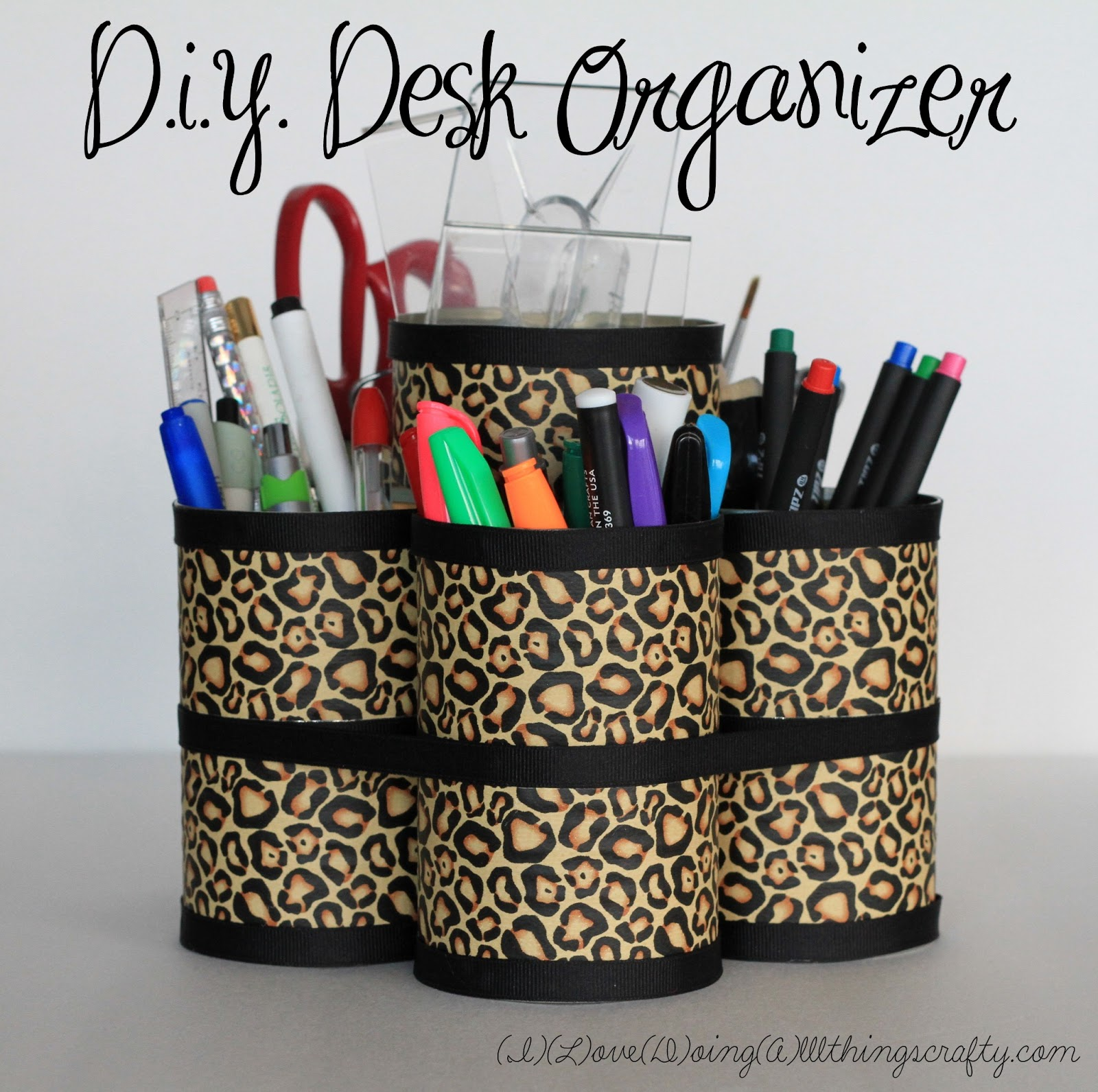 Diy Desk Organizer I Love Doing All Things Crafty Diy Desk Organizer