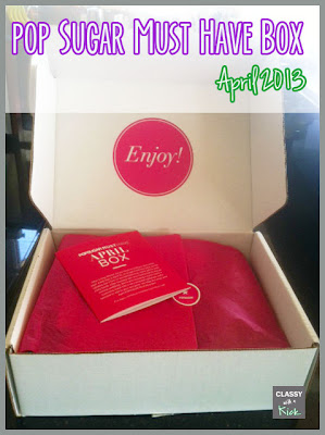 Pop Sugar Must Have Box April 2013