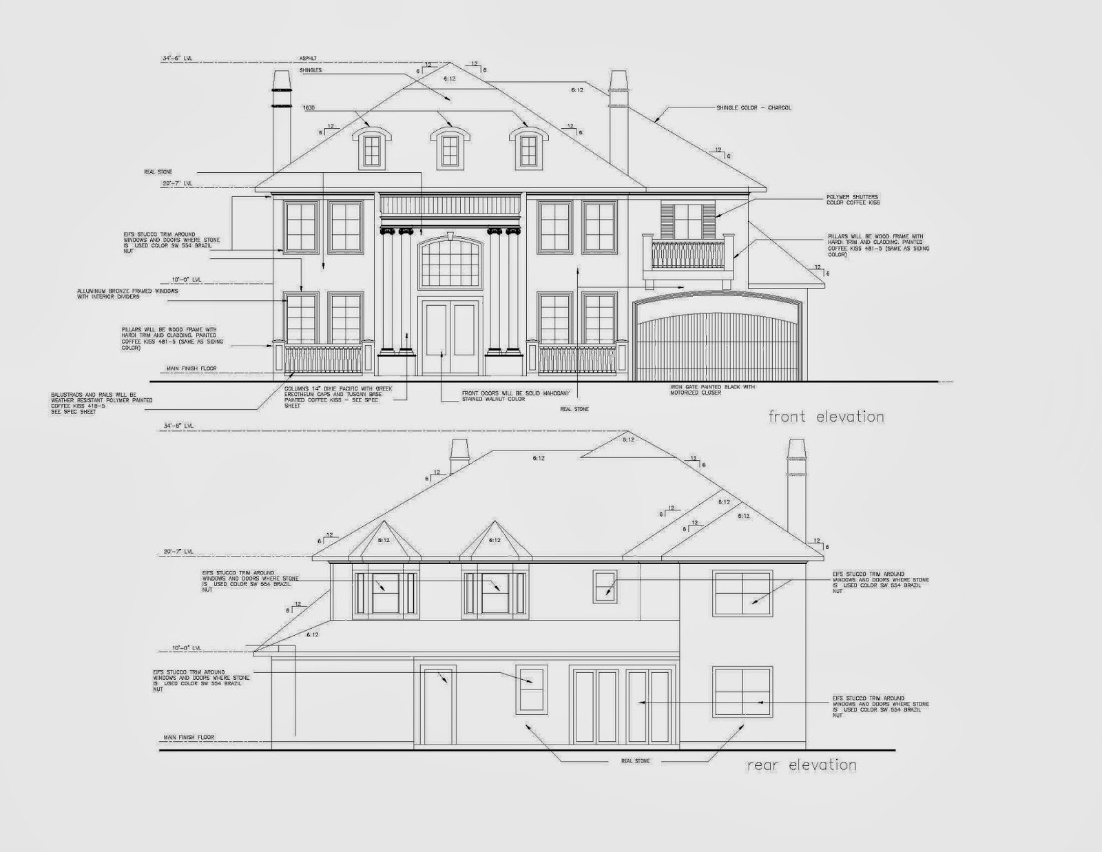 Architectural elevation detailing services for Architecture elevation