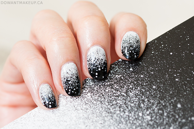 speckled gradient nail art