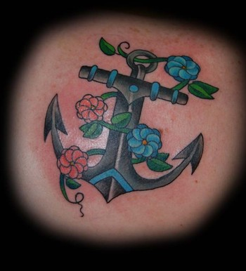 Anchor Tattoo Designs For Girls