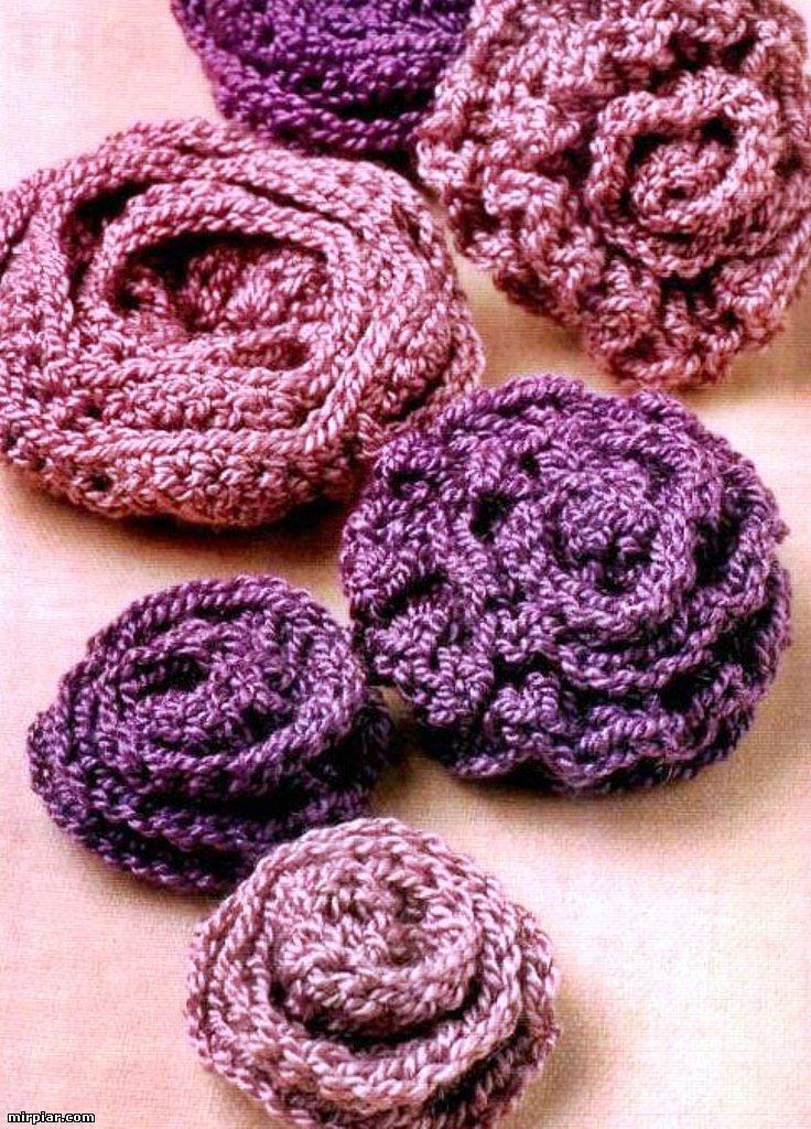 А это немножко схем к другим цветочкам Метки: вязание крючком роза крючком цветы крючком со схемами мастер-класс.