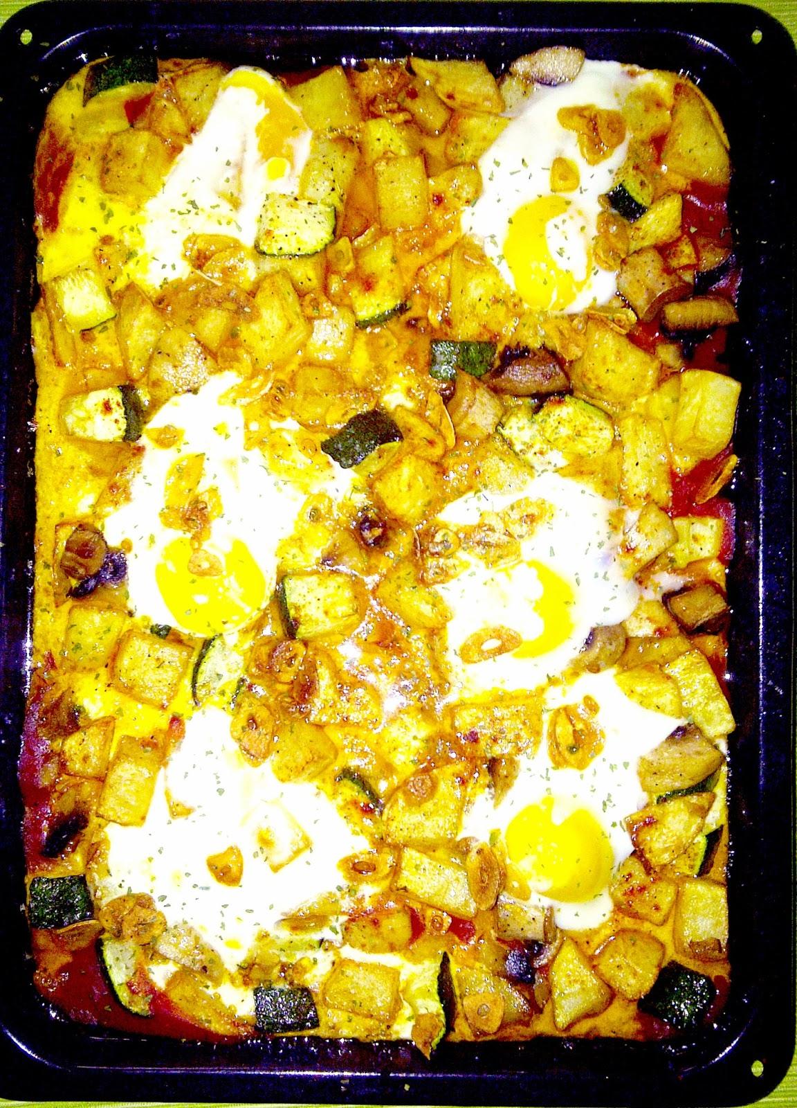 Huevos al plato a la andaluza
