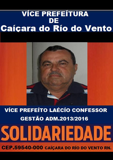 VÍCE PREFEÍTO LAÉCÍO CONFESSOR
