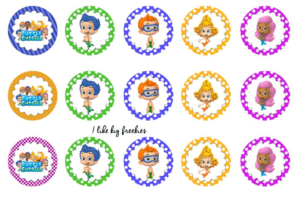 Freebies Free Bubble Guppies Bottlecap Images