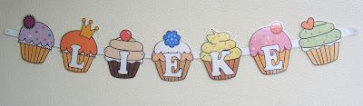 naamslinger, cupcake