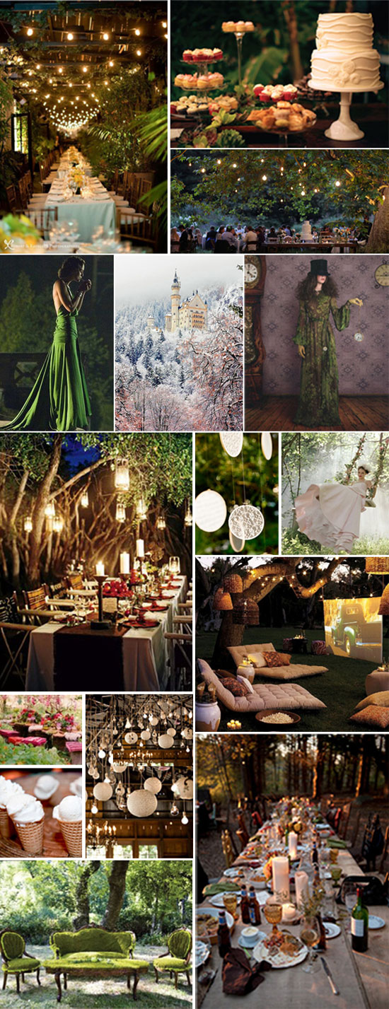 wedding enchanted forest themed reception. Here is the next theme Amy