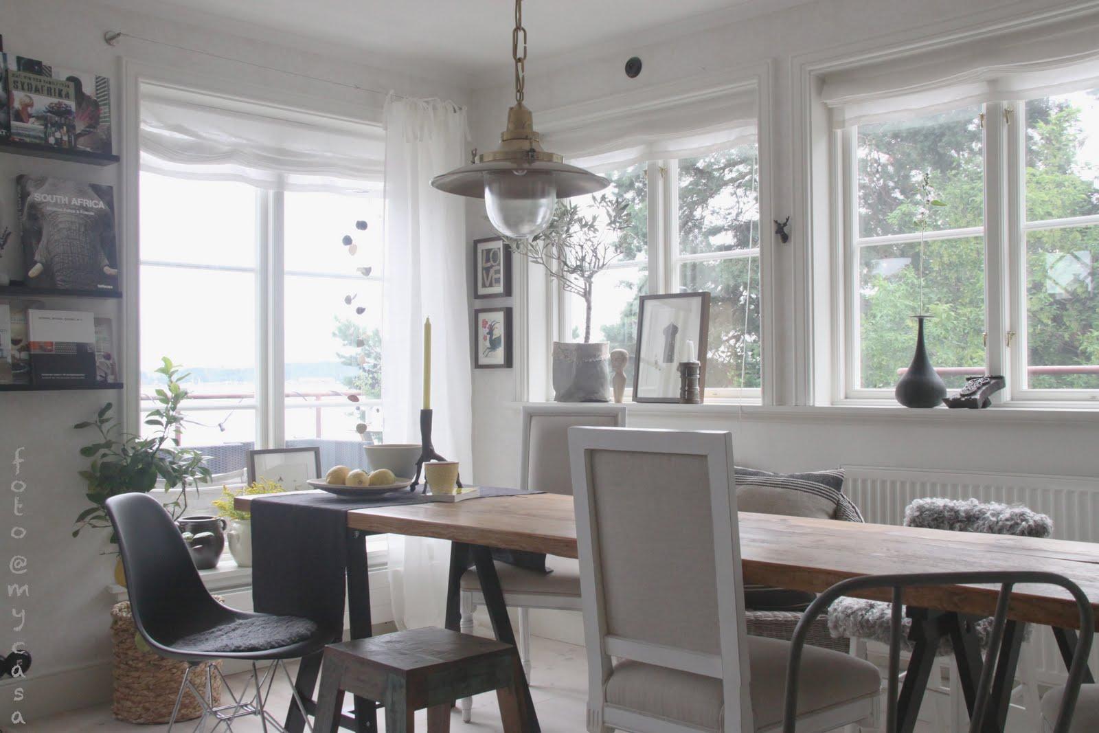 Matbord Whitewash : Hornskap vitrin möbel för kök sovrum