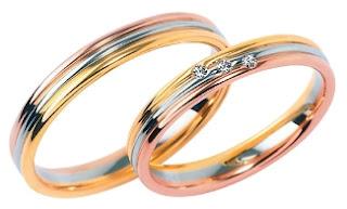 フラージャコー 結婚指輪 人気 ゴールド コンビ ダイヤモンド シンプル 名古屋