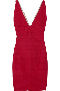 V-neck bandage dress