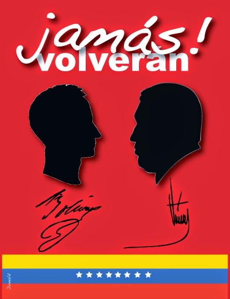 Bolívar y Chávez
