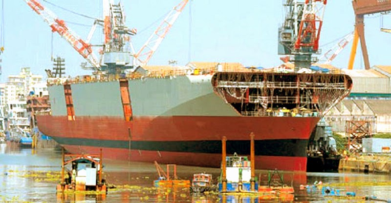 INS Vikrant II, under construction at Cochin