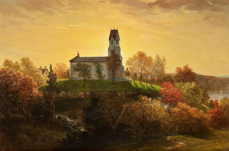 Louis Lang (American, 1814-1893) - St. Mary's in the Highlands, Garrison, New York, 1865