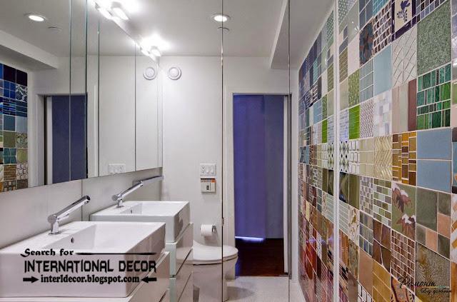 modern bathroom tiles designs ideas, patterned wall tiles for bathroom