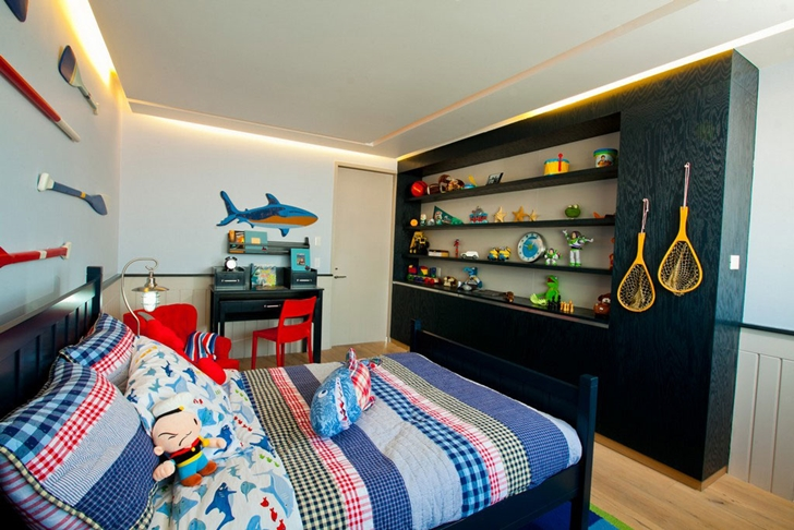 Kid's bedroom in Modern apartment by Craft Arquitectos