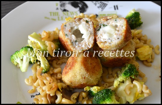 croquettes poulet fromage