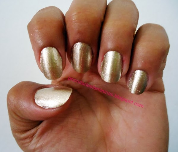 nail art dourada, golden,