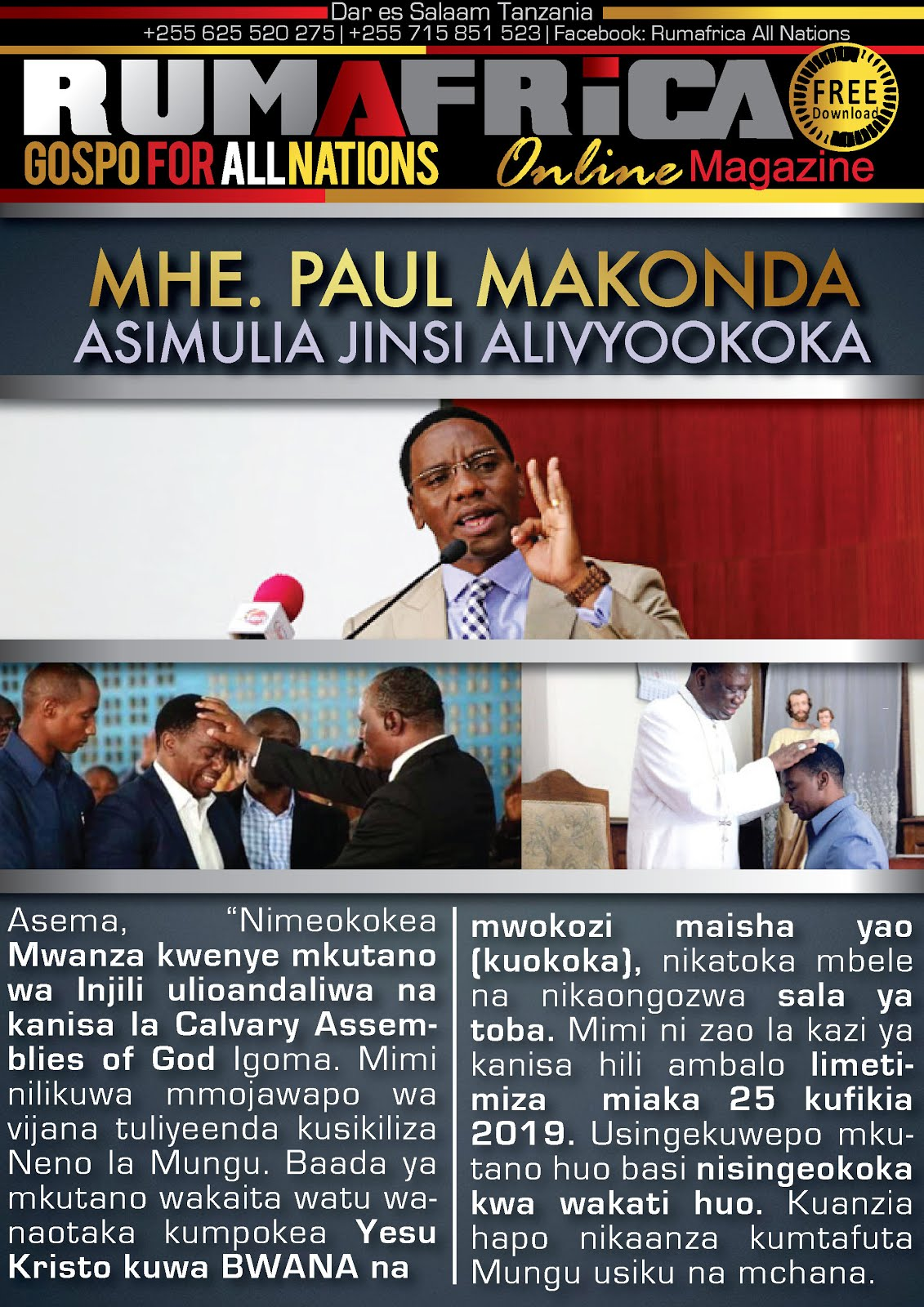 MHE. PAUL MAKONDA