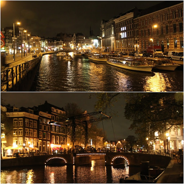 The Canals of Amsterdam especially the famous attraction of Keizersgracht at the bottom in Amsterdam, Netherlands