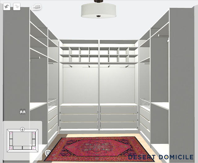 Master closet plans desert domicile - Small space closets plan ...
