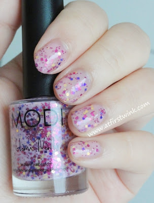 Modi Glam Nails nail polish no. 72 - Wild Strawberry