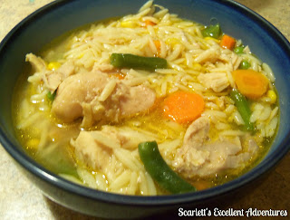 Flamin' Slow-Cooker Chicken Soup from Scarlett's Excellent Adventure