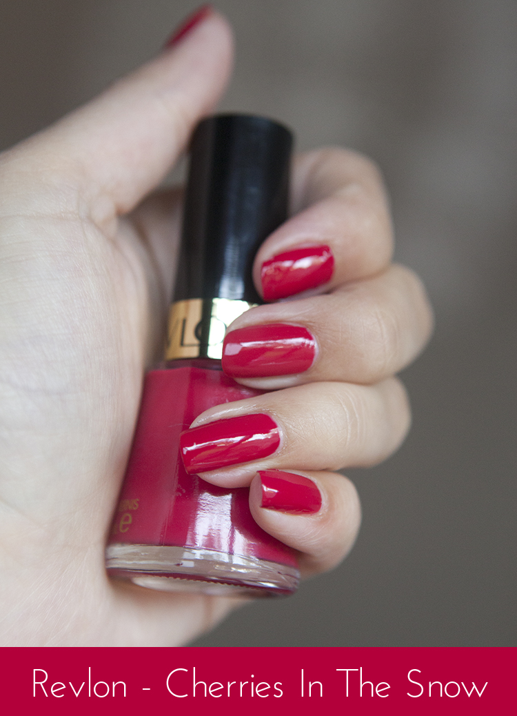 Nails of the Day - Revlon Cherries In The Snow | Super Gorgeous