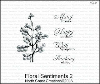Stamps - North Coast Creations Floral Sentiments 2