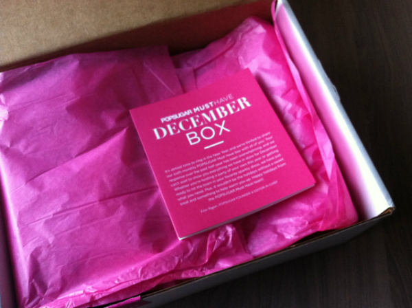 Pop Sugar Must Have - December 2012 Review - Monthly Women's Subscription Boxes