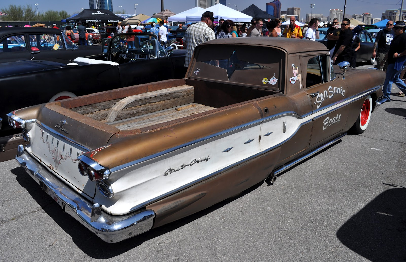 Just A Car Guy: the Sea Sonic Boats Pontiac Strato Chieftan truck ...