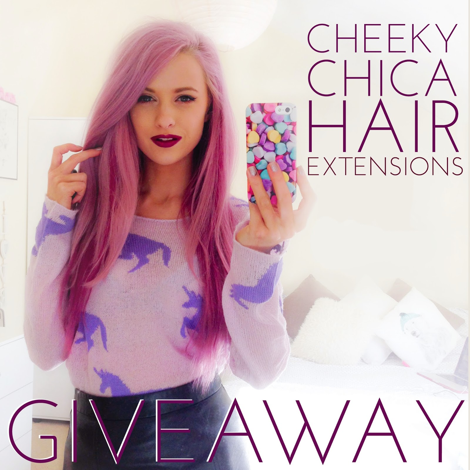 Cheeky Chica Hair Extensions Giveaway Inthefrow Bloglovin