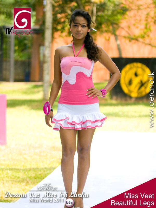 Miss Veet Beautiful Legs at Derana Veet Miss Sri Lanka for