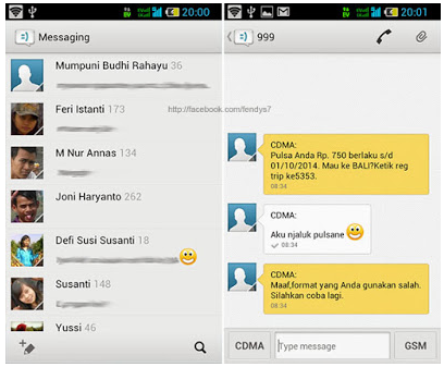 Display Mod SMS Latest On Android
