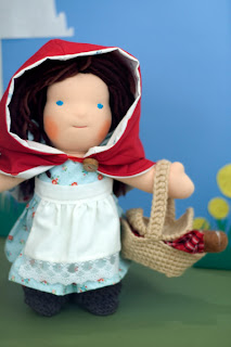 Tansy Dolls Red Riding Hood Doll Waldrof Steiner Bamboletta all-natural toys