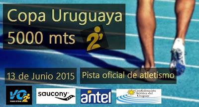 Copa Uruguaya de 5000 metros en pista (Montevideo, 13/jun/2015)