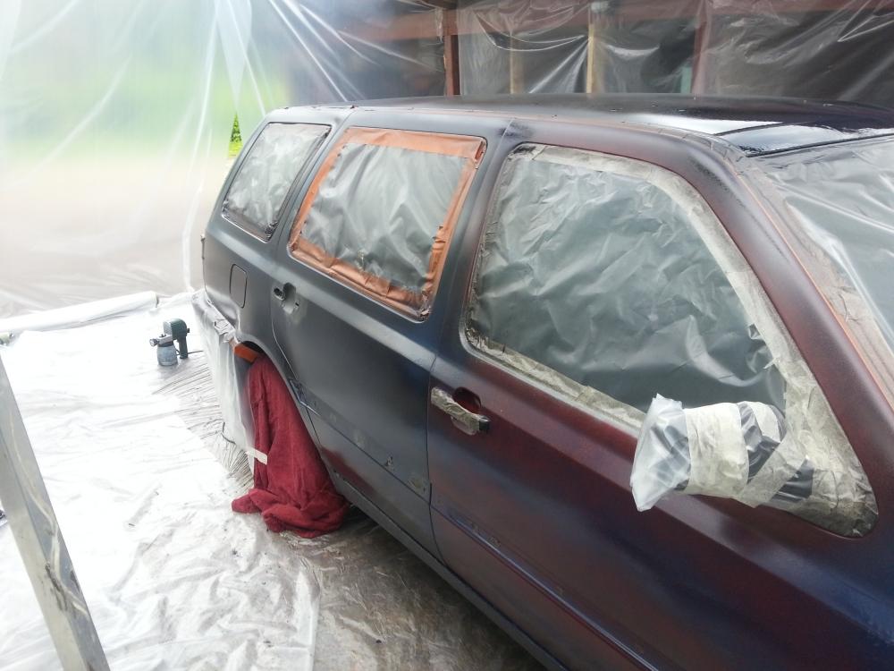 Auton maalaus itse