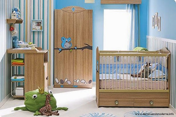 Image chambre de bébé garçon en bleu