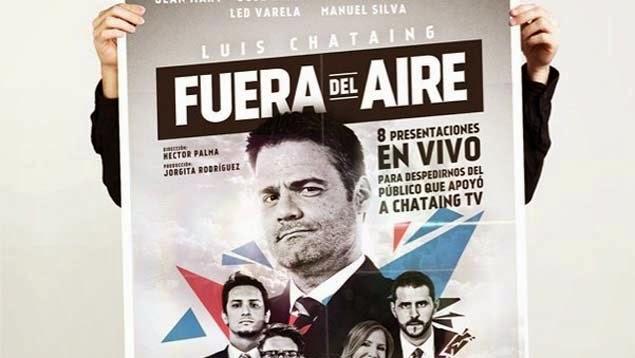 """Fuera del Aire"": Luis Chataing anuncia show para despedir su programa Chataing TV"