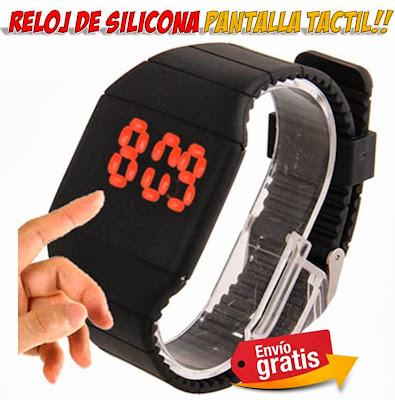 reloj LED silicona