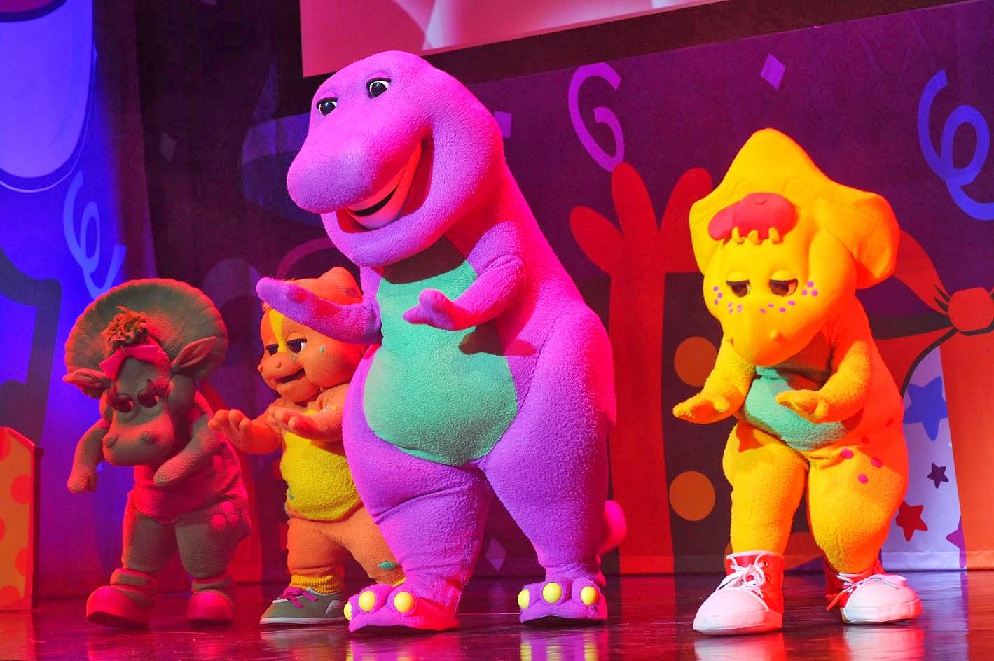Purple Plum Fairy BARNEY INVITES YOU TO CELEBRATE HIS BIRTHDAY IN - Barney live in concert birthday