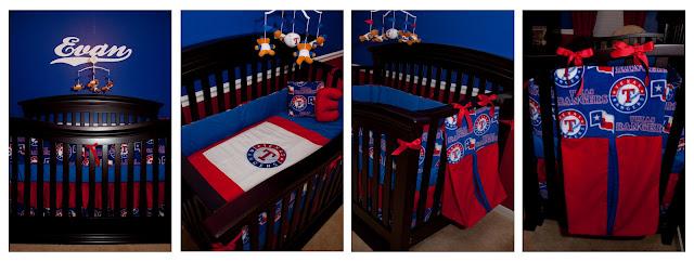 www.jarcarfam.blogspot.com - Texas Rangers Bedding