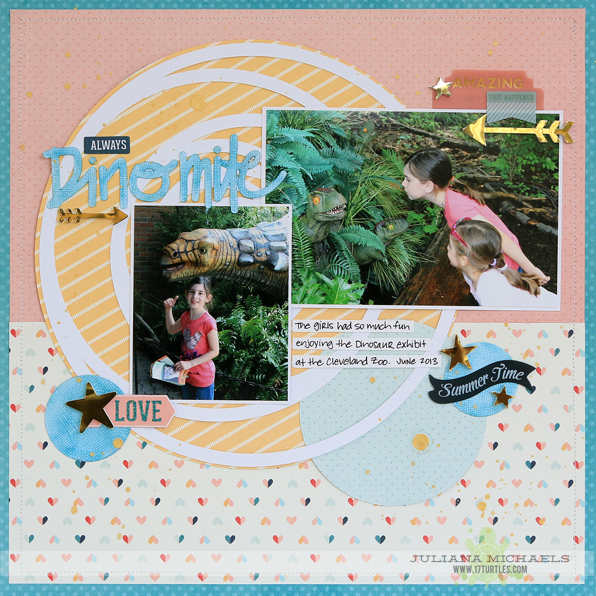 Dinomite Scrapbook Page by Juliana Michaels for Creative Scrappers Creating With Sketches Volume 3