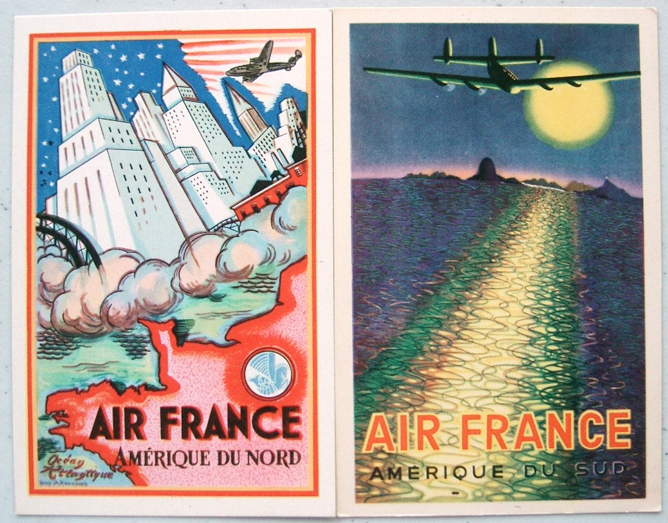 postcardiva postcard blog: AIR FRANCE Travel Poster Style ...