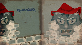A little sneak peek banner of strange elf-witch-snowman hybrids from the workshop of holiday artist Bindlegrim
