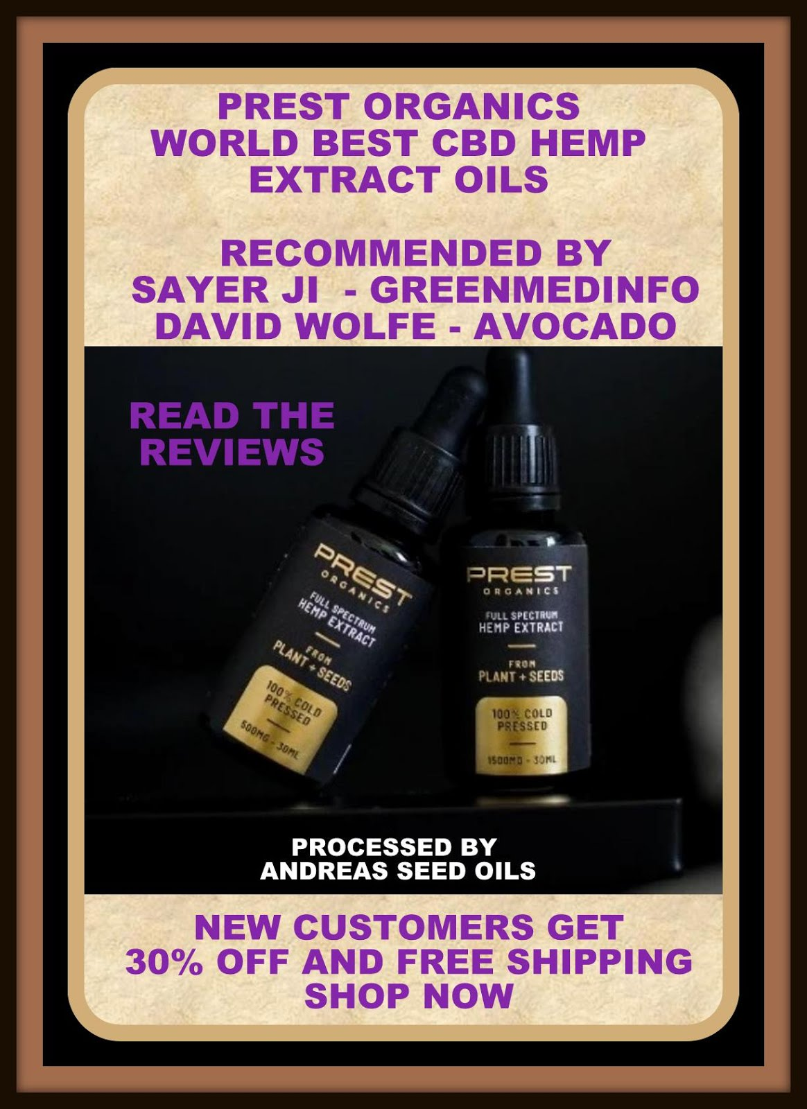 MY RECOMMENDATION FOR CBD OIL