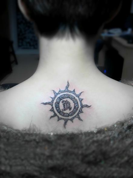 totem sun tattoo