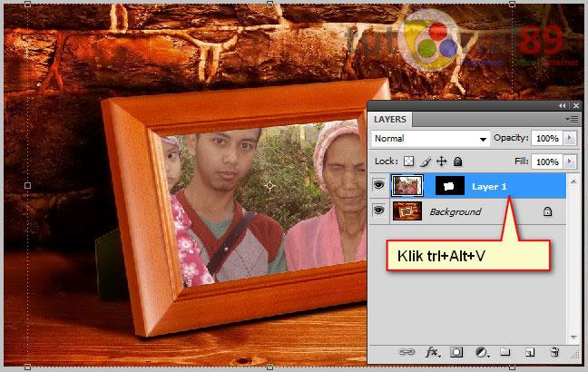 Cara memasukan foto kedalam bingkai di photoshop